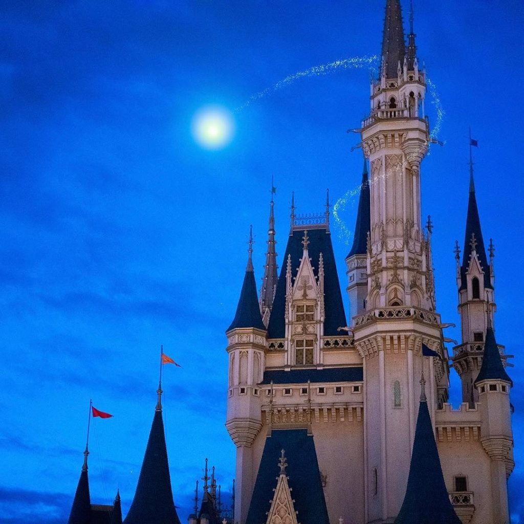 Do you want to fly over Cinderella Castle? あそこに飛んでいるのは・・・ #cindrellacastle #fant...