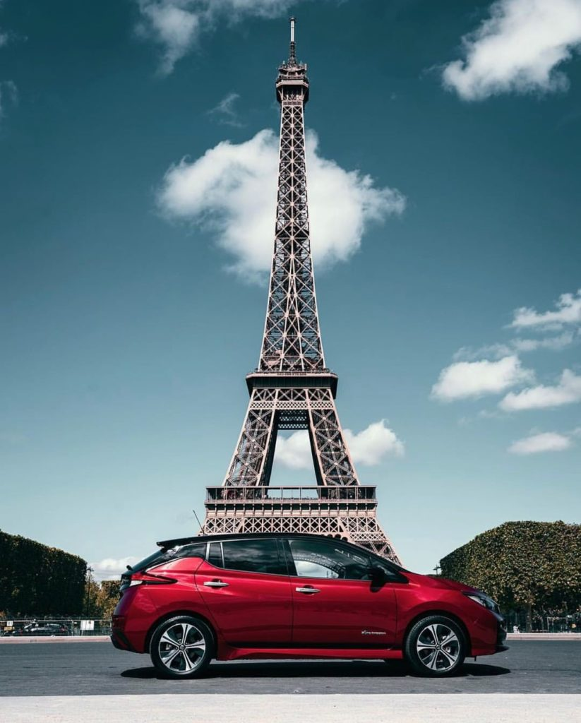 The city of love meets electric love.  #NissanLEAF #SimplyAmazing : @guiruch...