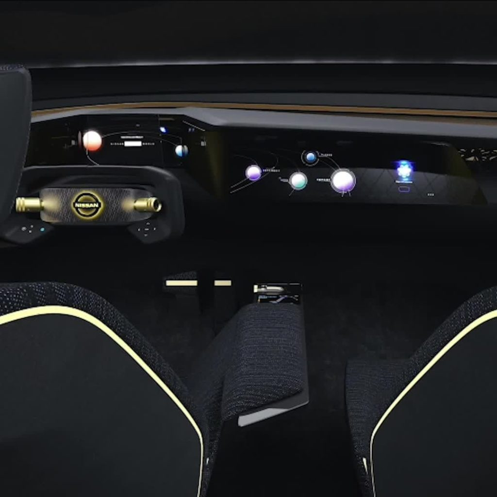 The interior of the Nissan IMs concept represents a new way of visualizing how c...