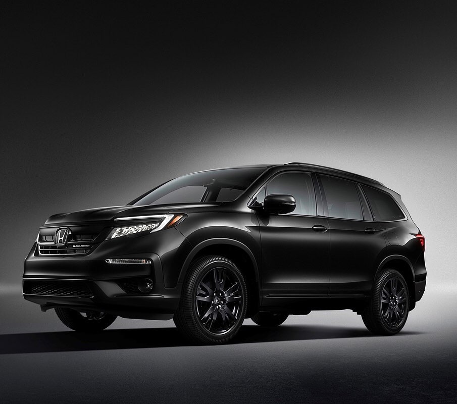 Sinister and safe. The 2020 Honda Pilot is available now with Honda Sensing® sta...