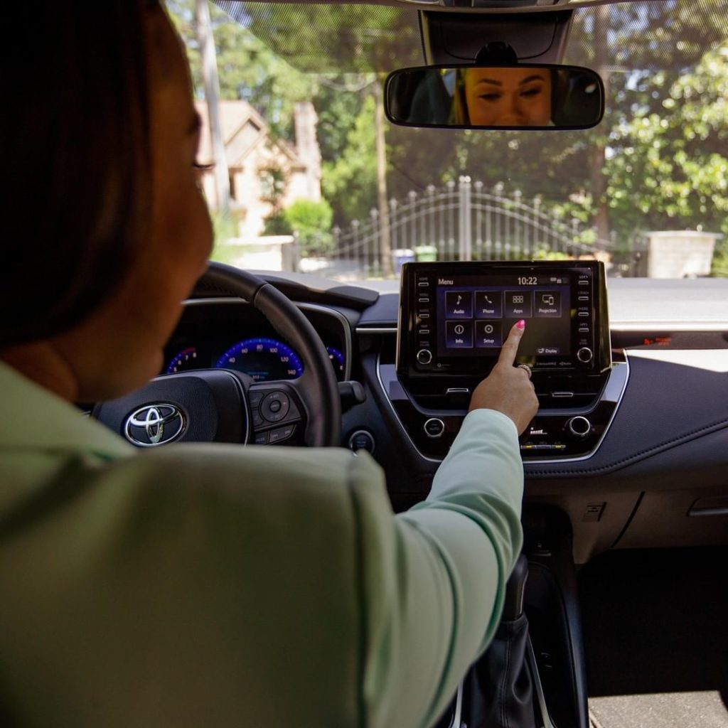 8-inch touchscreen display to unlock all the technology the 2020 #Corolla has to...