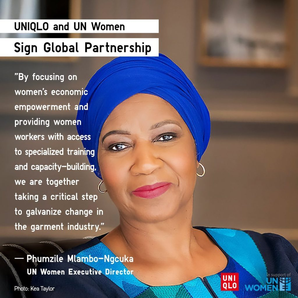 UNIQLO has partnered with UN Women to champion women`s rights and empowerment in...