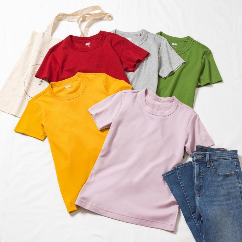 Colorful basics make all the difference.  #tshirt #lifewear #uniqlou #colourful ...