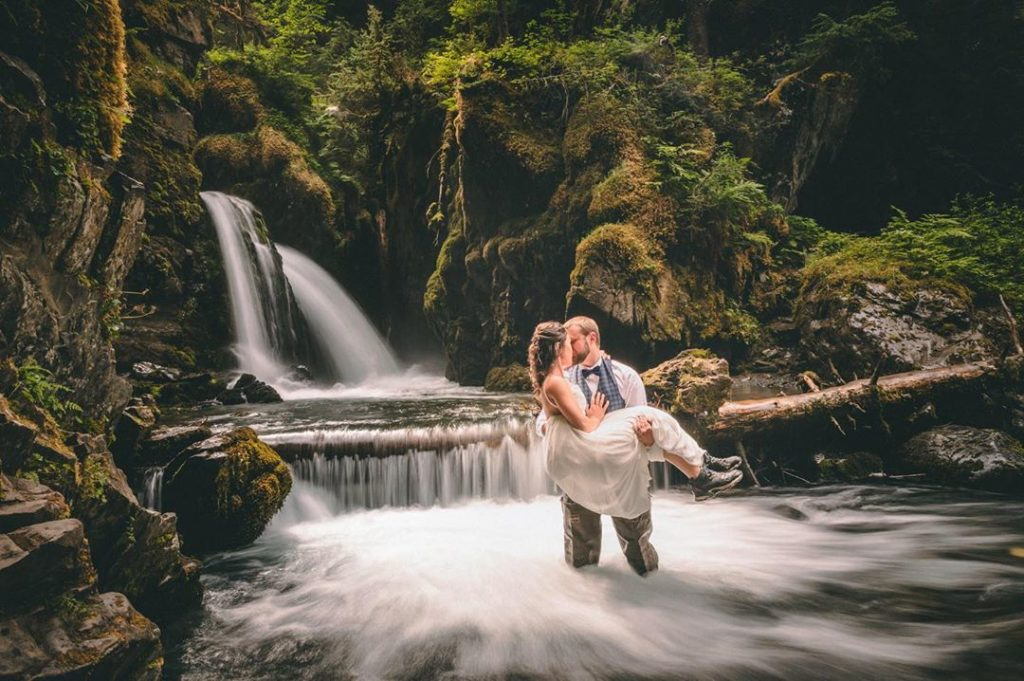 """An absolutely beautiful Alaska style wedding. Loved how the motion of the water..."