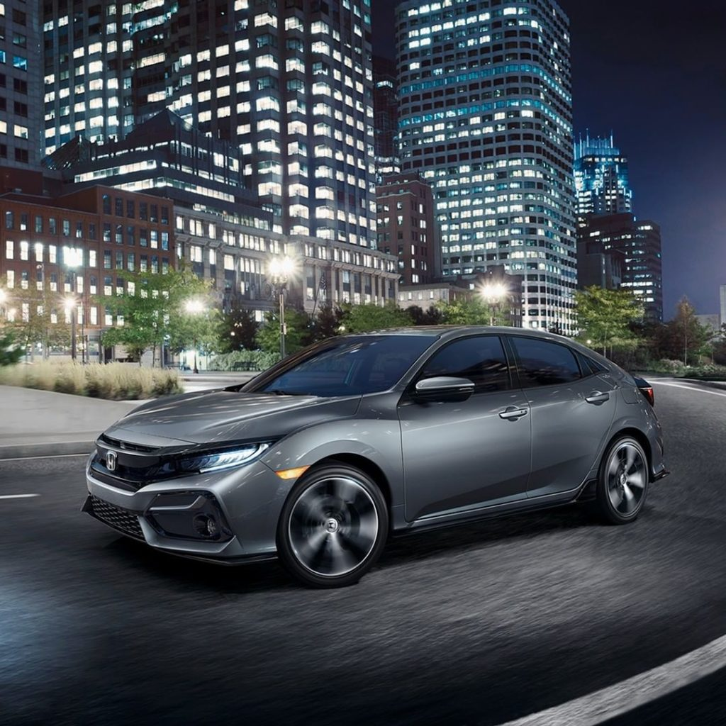 Rolling in style. With the stunning new wheels on the redesigned 2020 Honda Civi...