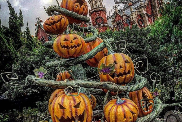 Who decorated the Haunted Mansion!? ブキミでステキでしょ? (Photo:@h.m.sumowa1983)  #disney...