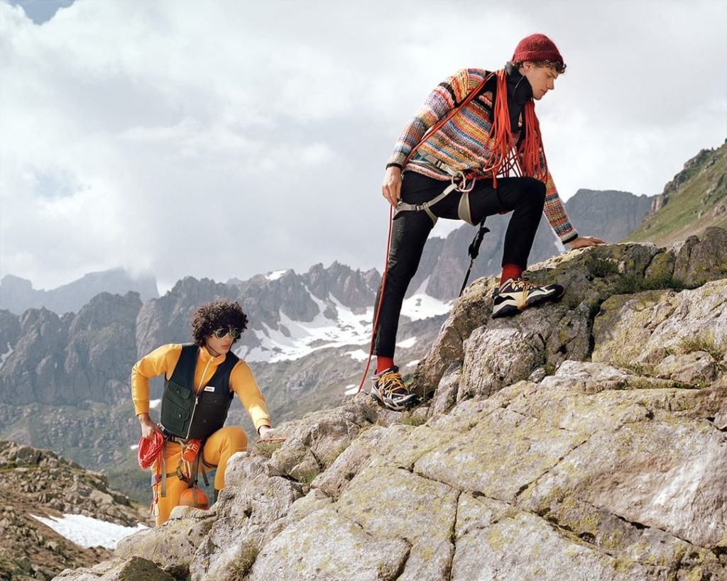 PUSHING LIMITS: In functional, rugged outdoor silhouettes, the trekkers of the #...