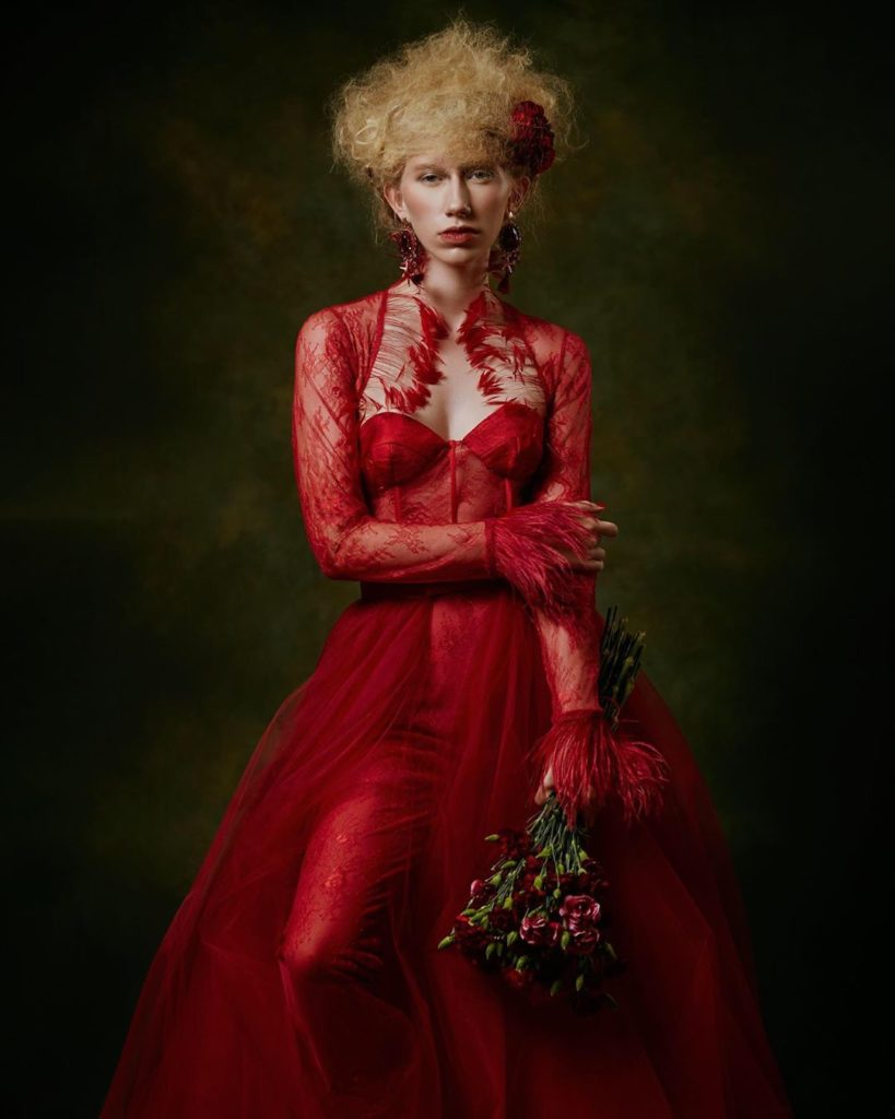 """""""For this shot I was inspired by the look of old fine art renaissance portrait p..."""