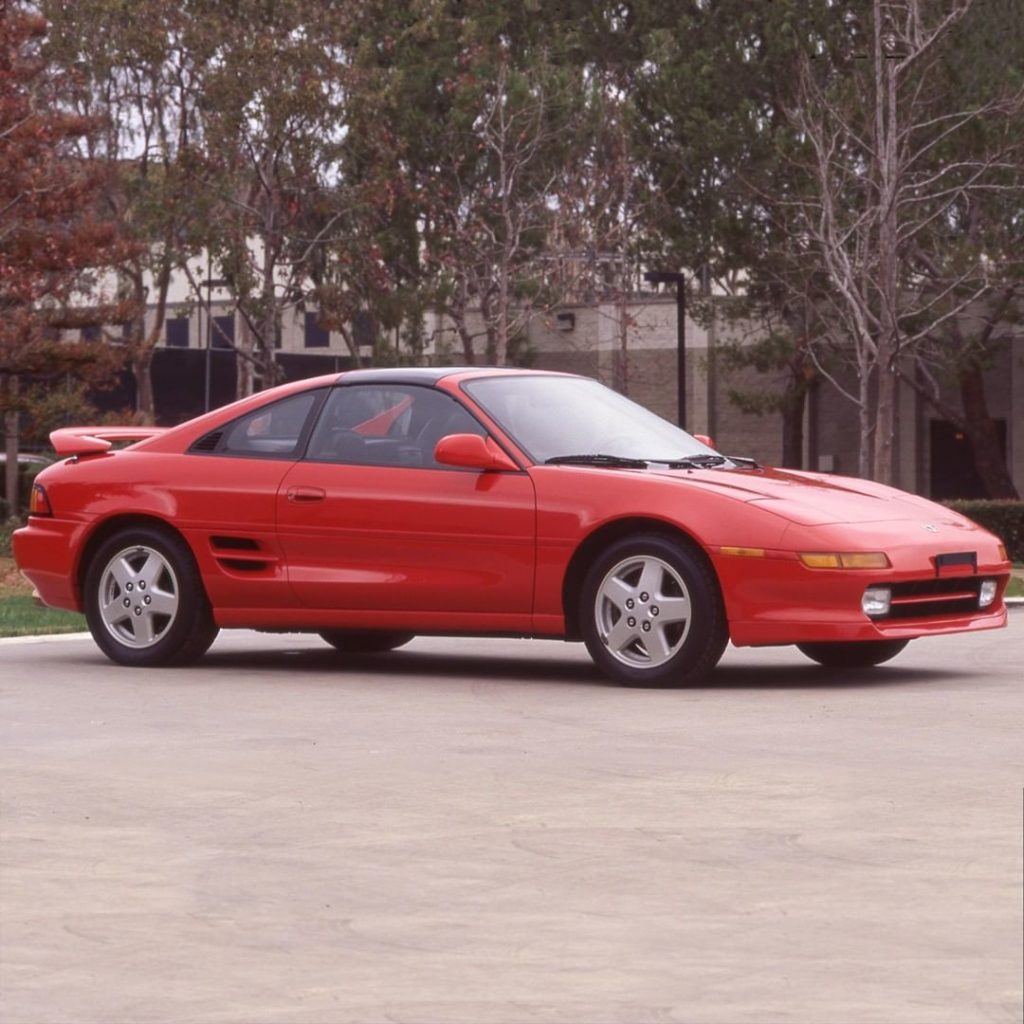 Turning parking lots into photoshoots since '95! #TBT #MR2 #LetsGoPlaces...