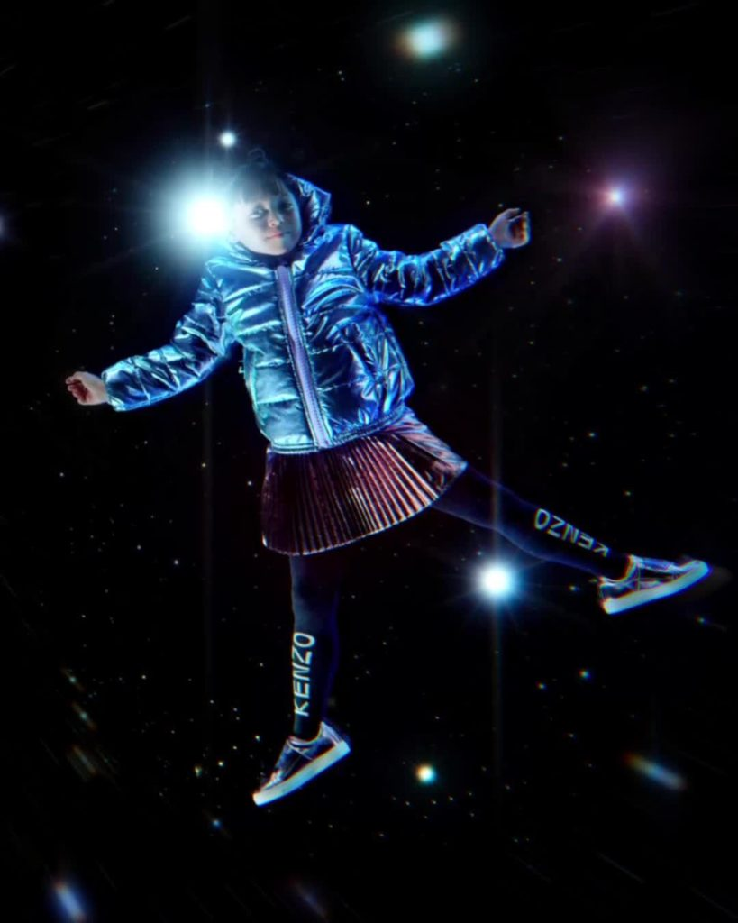 LITTLE STARS: Kids join intergalactic KENZO adventure with shiny puffer jackets ...