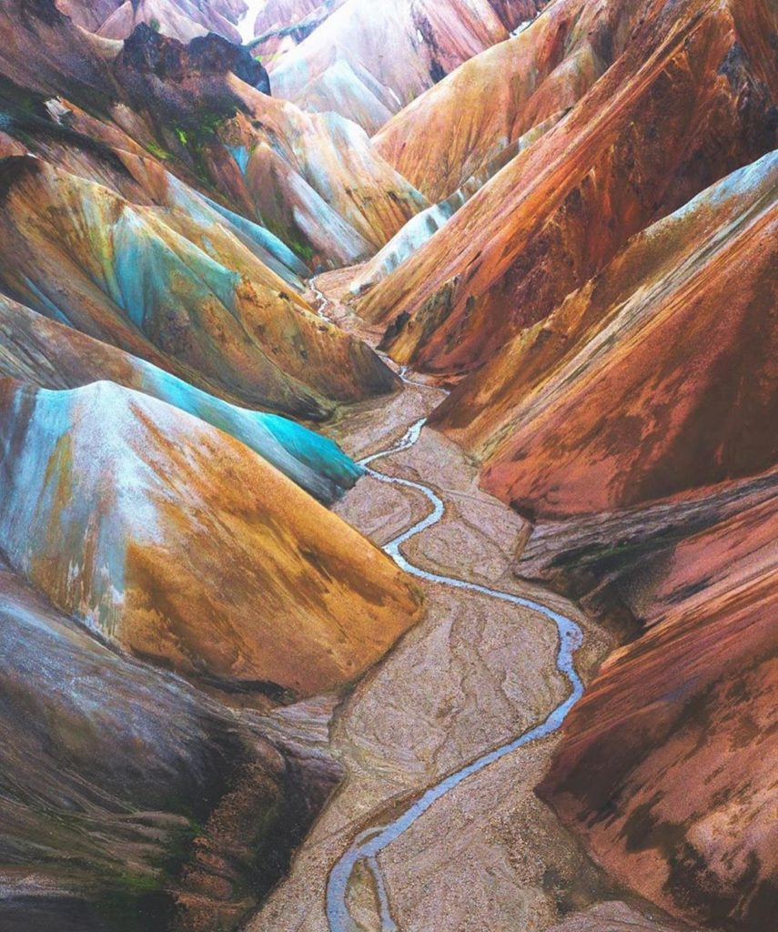 The most colourful canyon in Iceland. This place looks like a painting. Incredib...