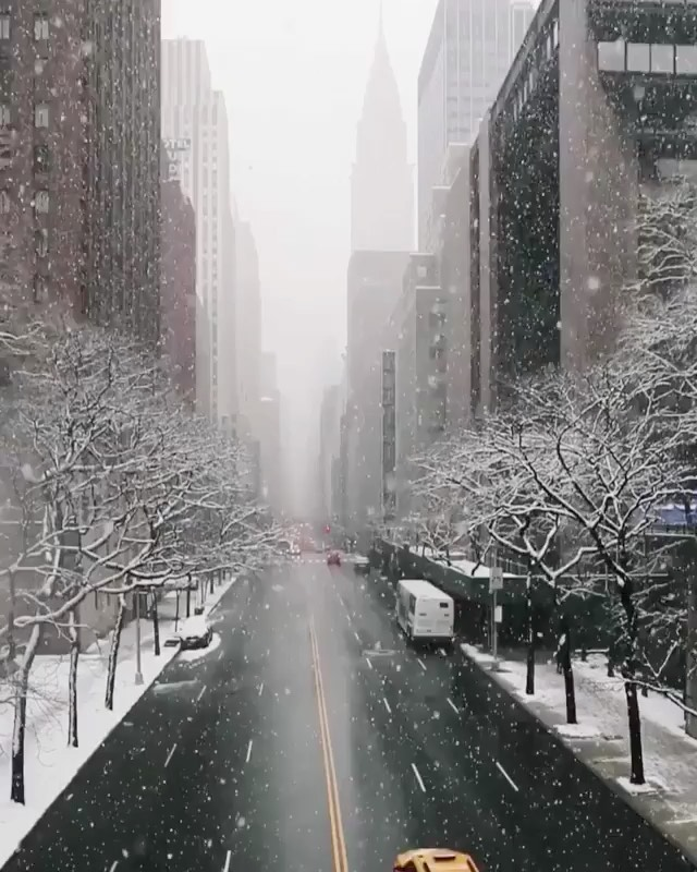 Winter in New York looks incredible!Beautiful video by @samhorine #newyork #snow...