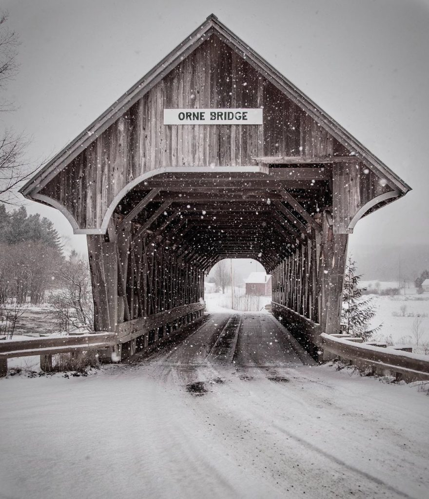 """""""Growing up just down the road from this bridge I passed through it countless ti..."""