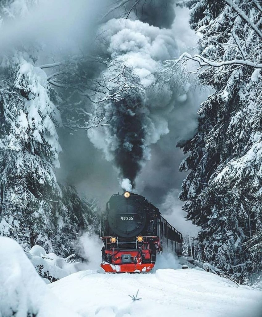 Winter is incoming. Beautiful shot from the Harz Mountains, Germany.  Photograph...