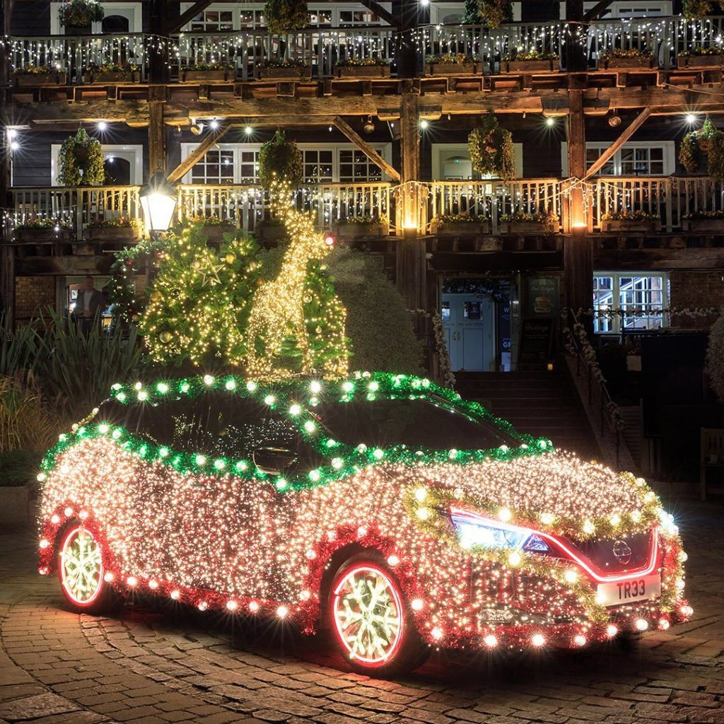 Which way's the holiday party? #HappyHolidays #NissanLEAF #SimplyAmazing...