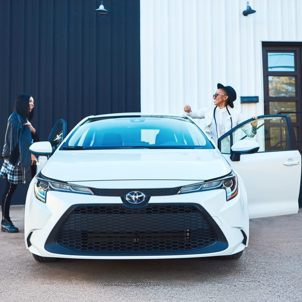 A style that captivates all. #Corolla #Hybrid #LetsGoPlaces...