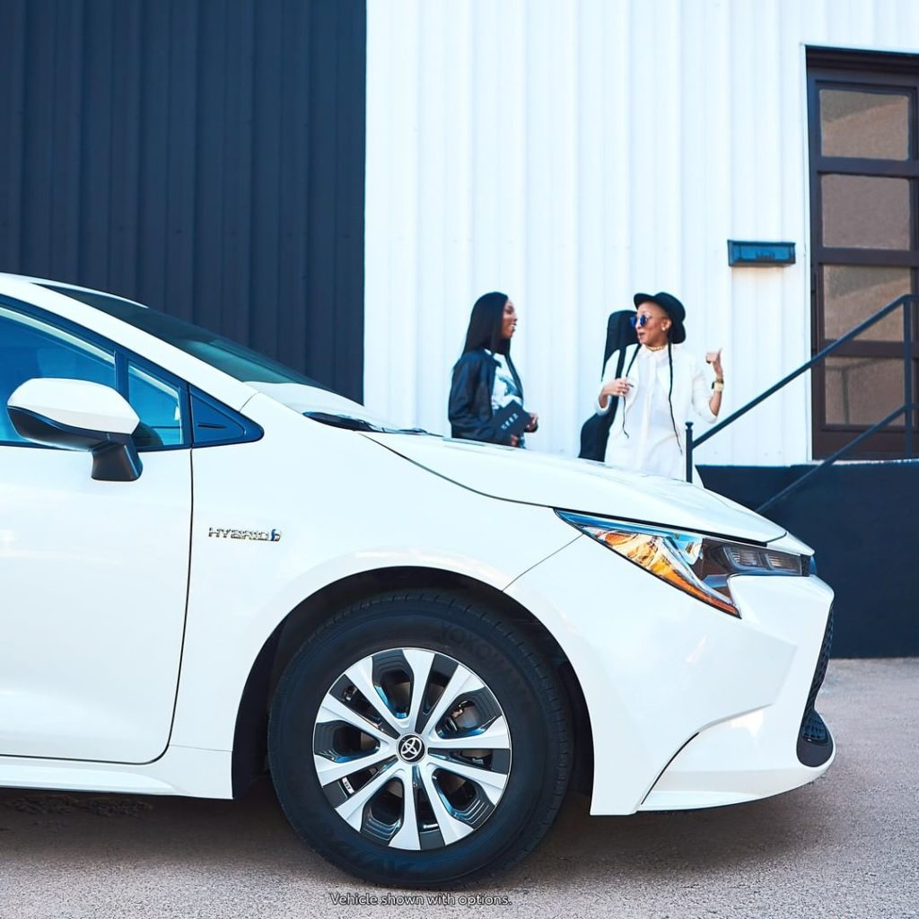 Stand out in any environment. #Corolla #Hybrid #LetsGoPlaces...