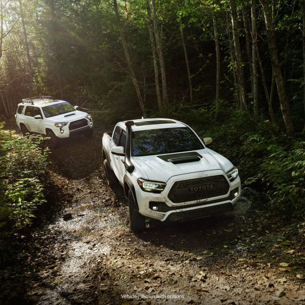 Follow the leaders. #Tacoma #4Runner  #TRD Pro #LetsGoPlaces...