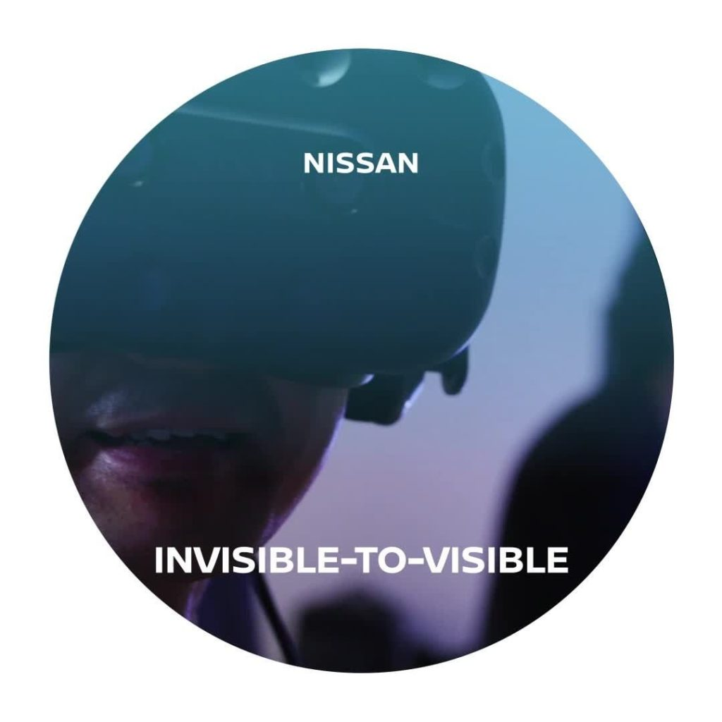 Nissan's Invisible-to-Visible technology became a work of art! Visitors of @mori...