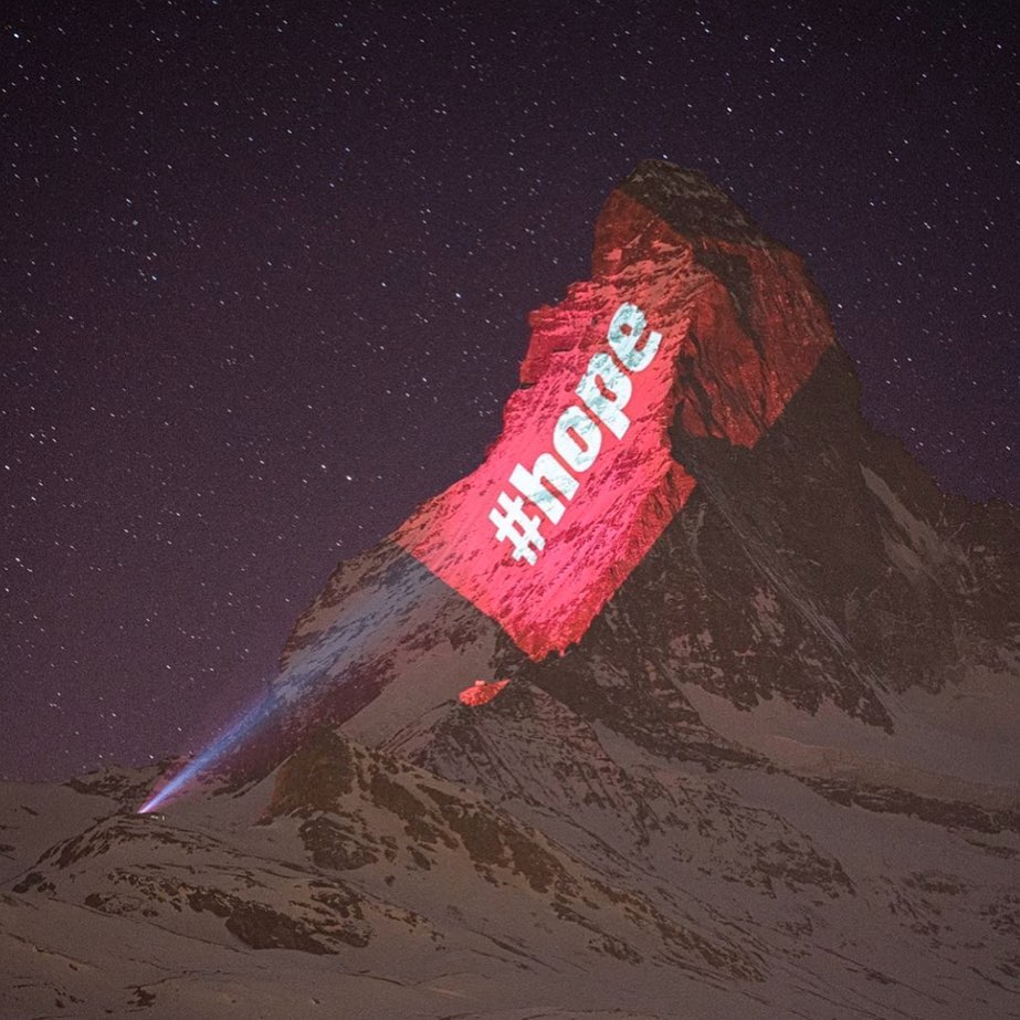 Did you know every night The Matterhorn mountain on the Italian-Swiss border is ...