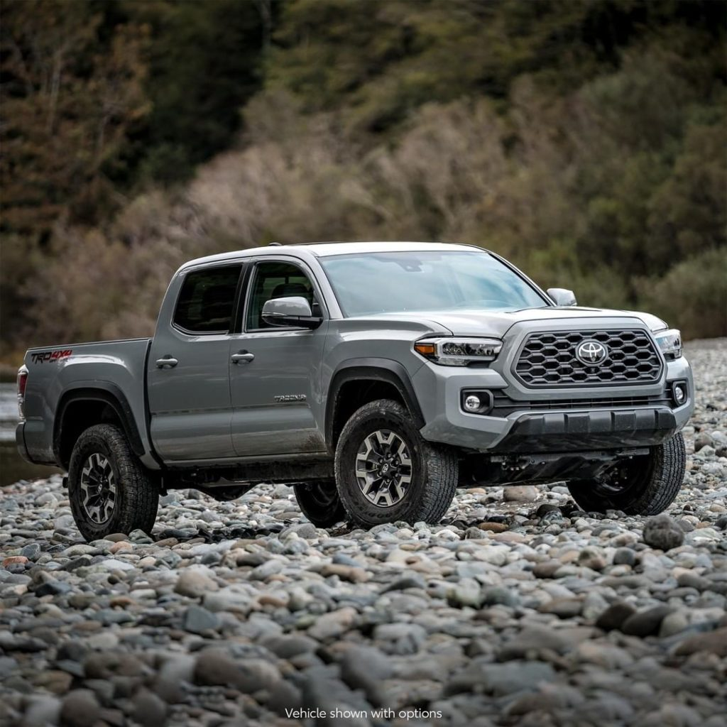 Challenging terrain? No problem! #Tacoma TRD Off-Road...
