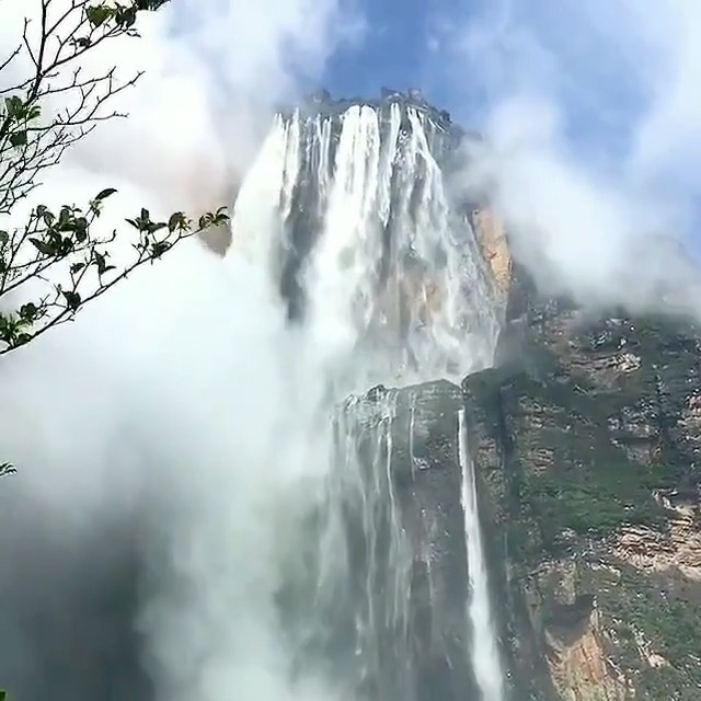 The highest uninterrupted waterfall in the world at 979 meters.  Videography | @...